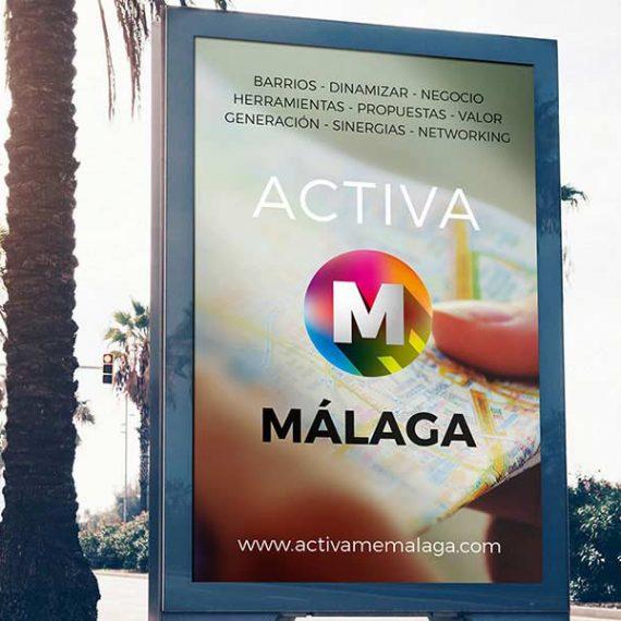 Cartera publicitaria málaga. Diseño de carteles para publicidad. Agencia Málaga.