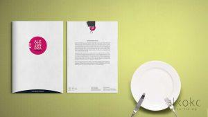 Identidad corporativa Málaga. Diseño de tarjetas. Logotipos Málaga. Estudio de diseño. Alejandra Catering.