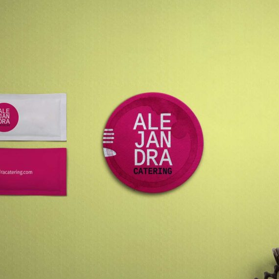 Tarjetas de visita en Málaga. Diseño de tarjetas. Logotipos Málaga. Estudio de diseño. Alejandra Catering.