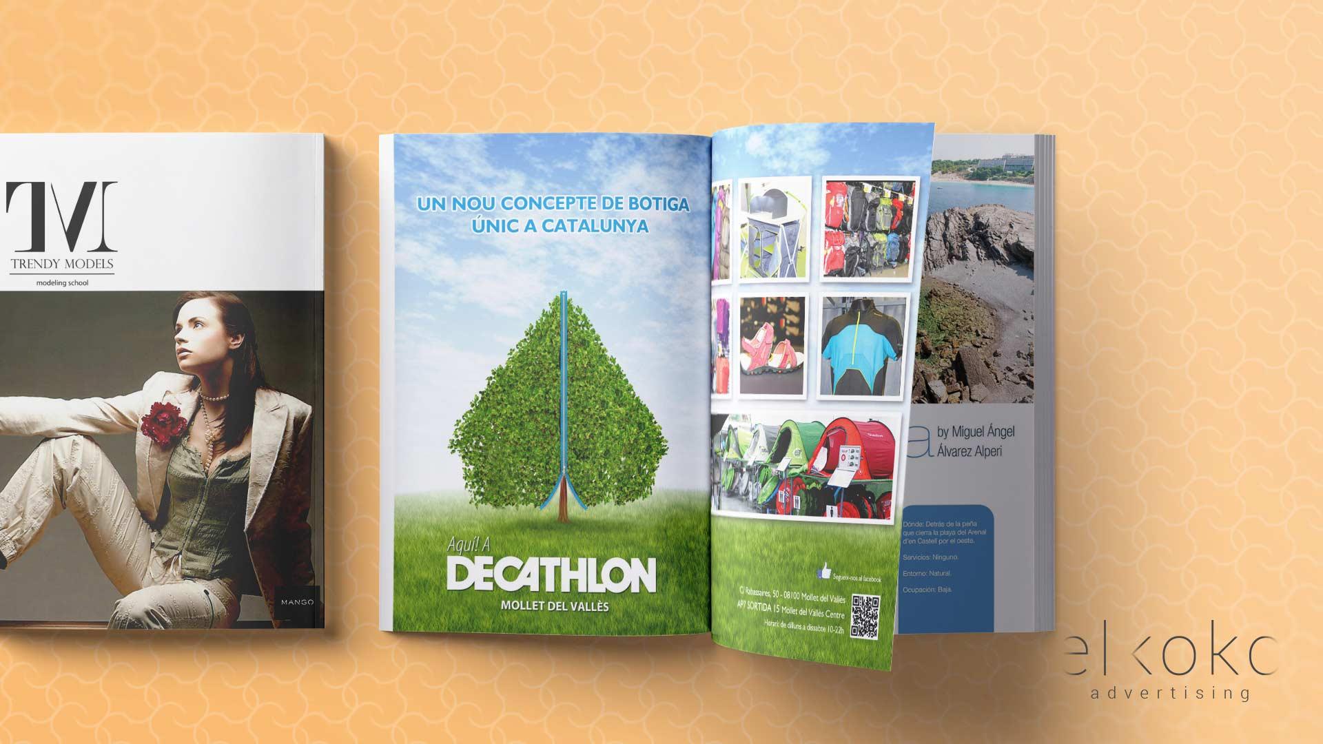 Decathlon. Diseño Editorial Málaga. Agencias de publicidad en Málaga.