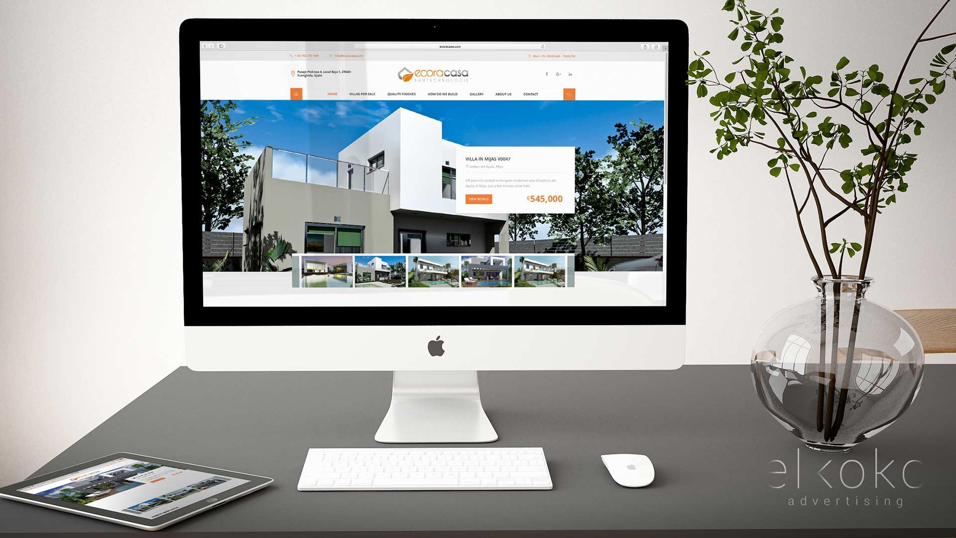 Diseño web wordpress para inmobiliaria en Málaga. Mejor Agencia de Publicidad en Málaga. Elkoko.