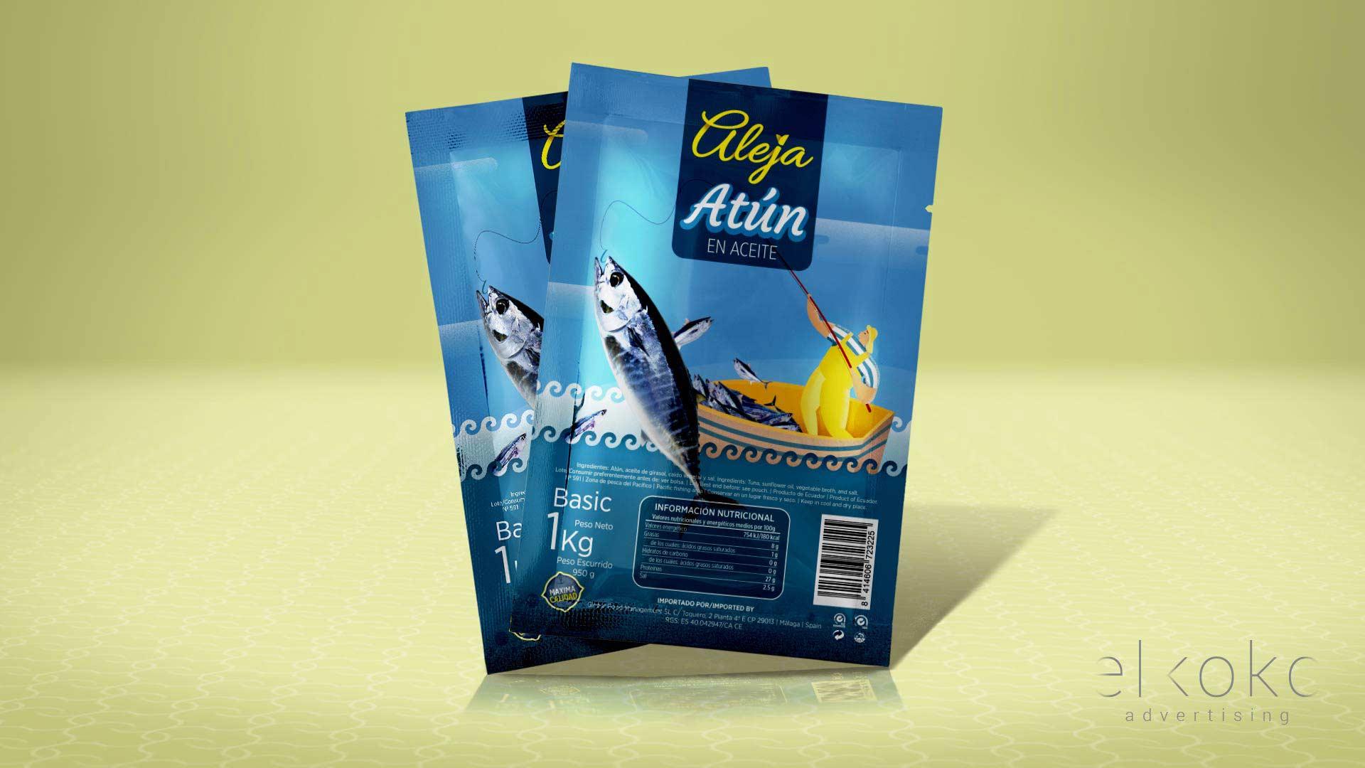 Packaging de producto Málaga. Diseño de etiquetas para envases.