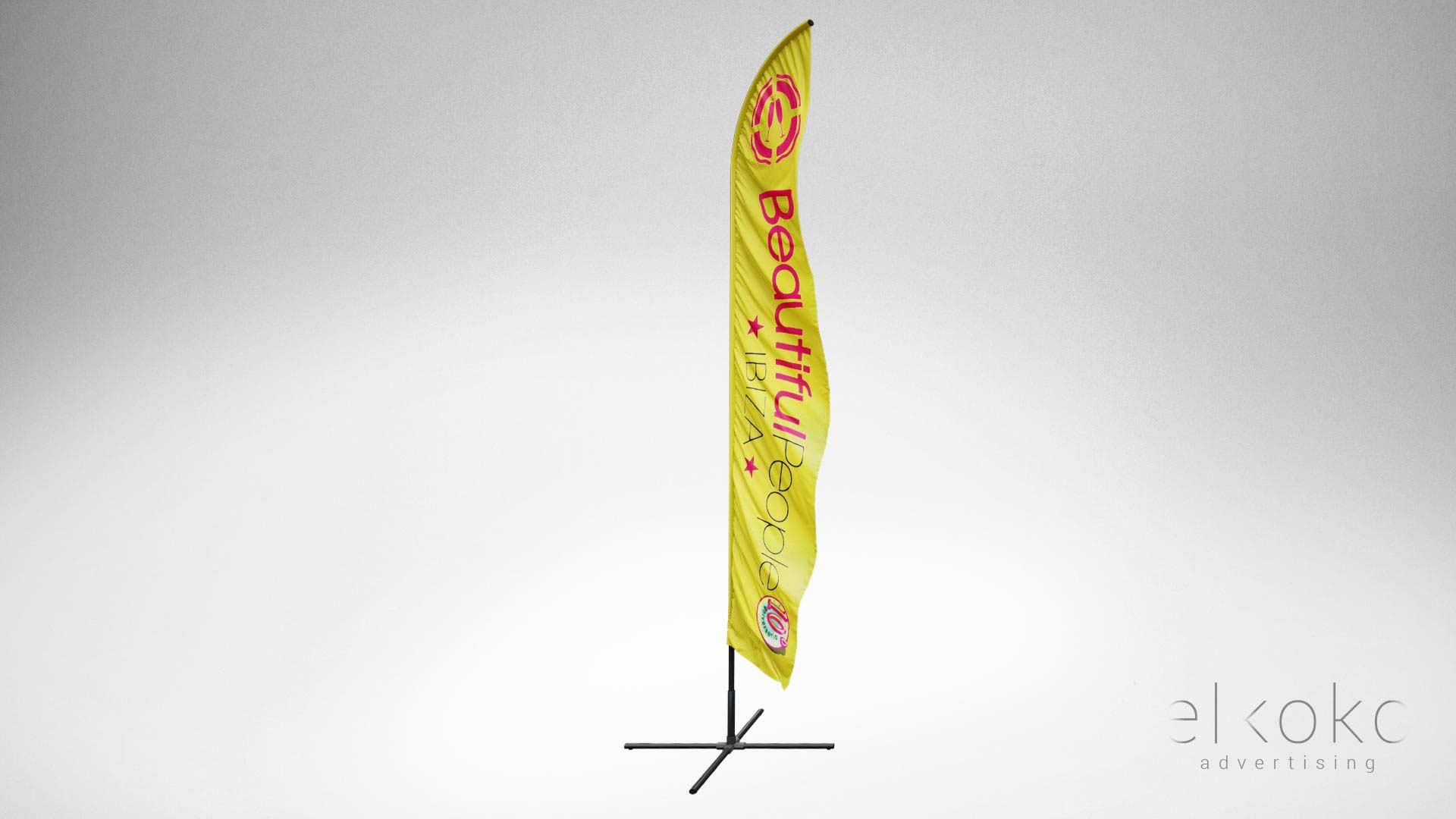 Diseño de banderolas publicitarias en Málaga. Diseño gráfico y materiales de marketing.