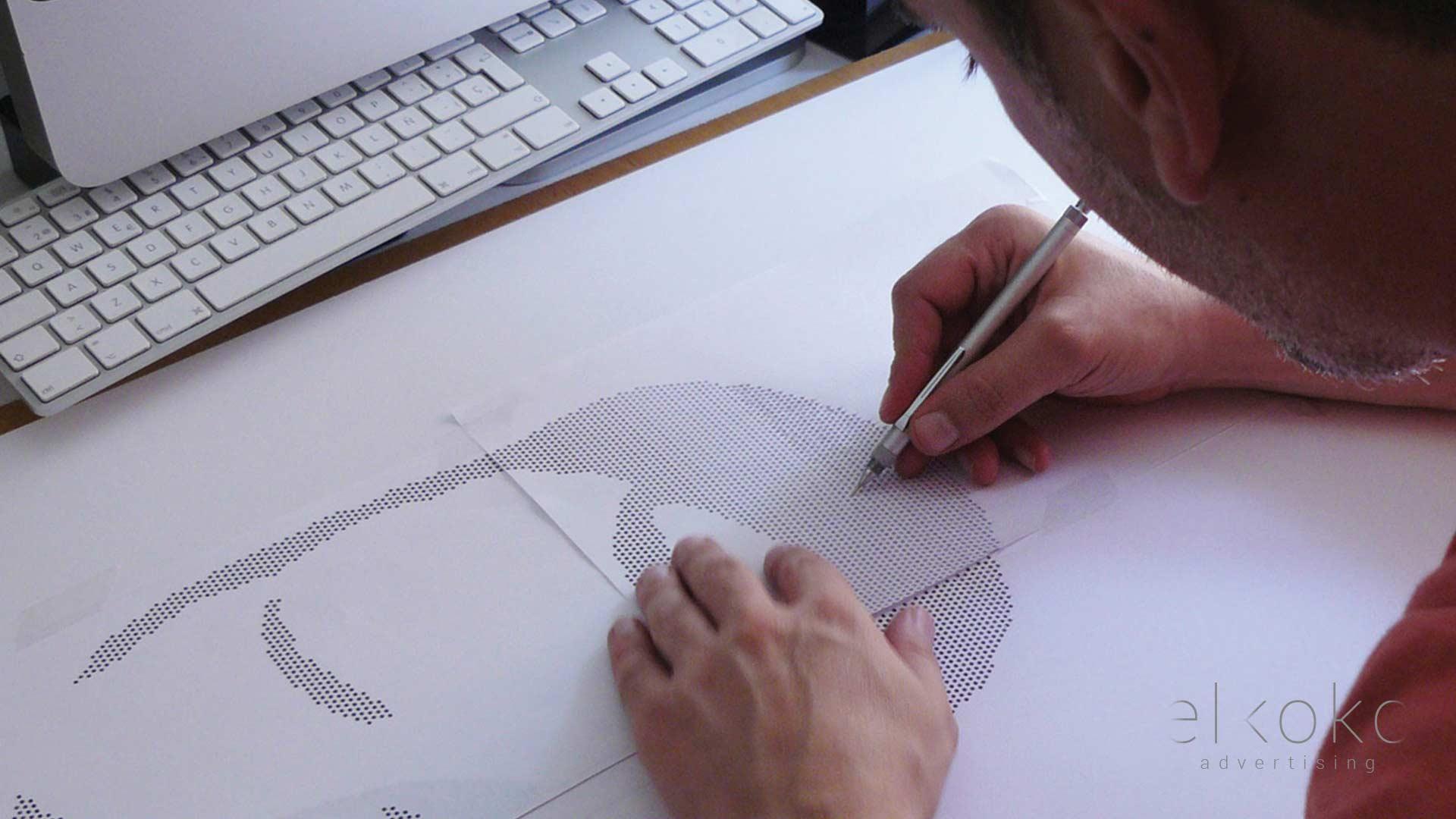 Diseño gráfico artesanal en Málaga. Diseño gráfico 3D. Elkoko.