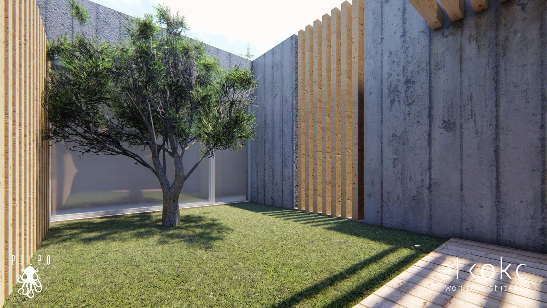 Infografias 3d de vivienda unifamiliar en Casabermeja, Málaga.