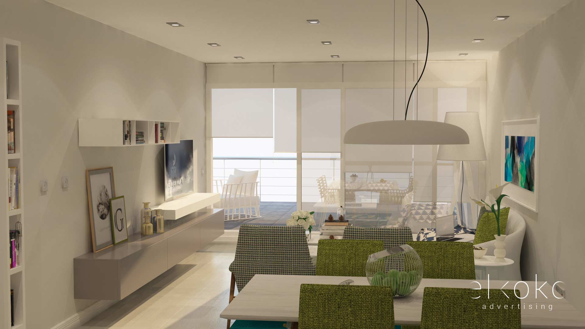 Infografias 3D para viviendas. Modelados 3D y render 3D. Málaga.