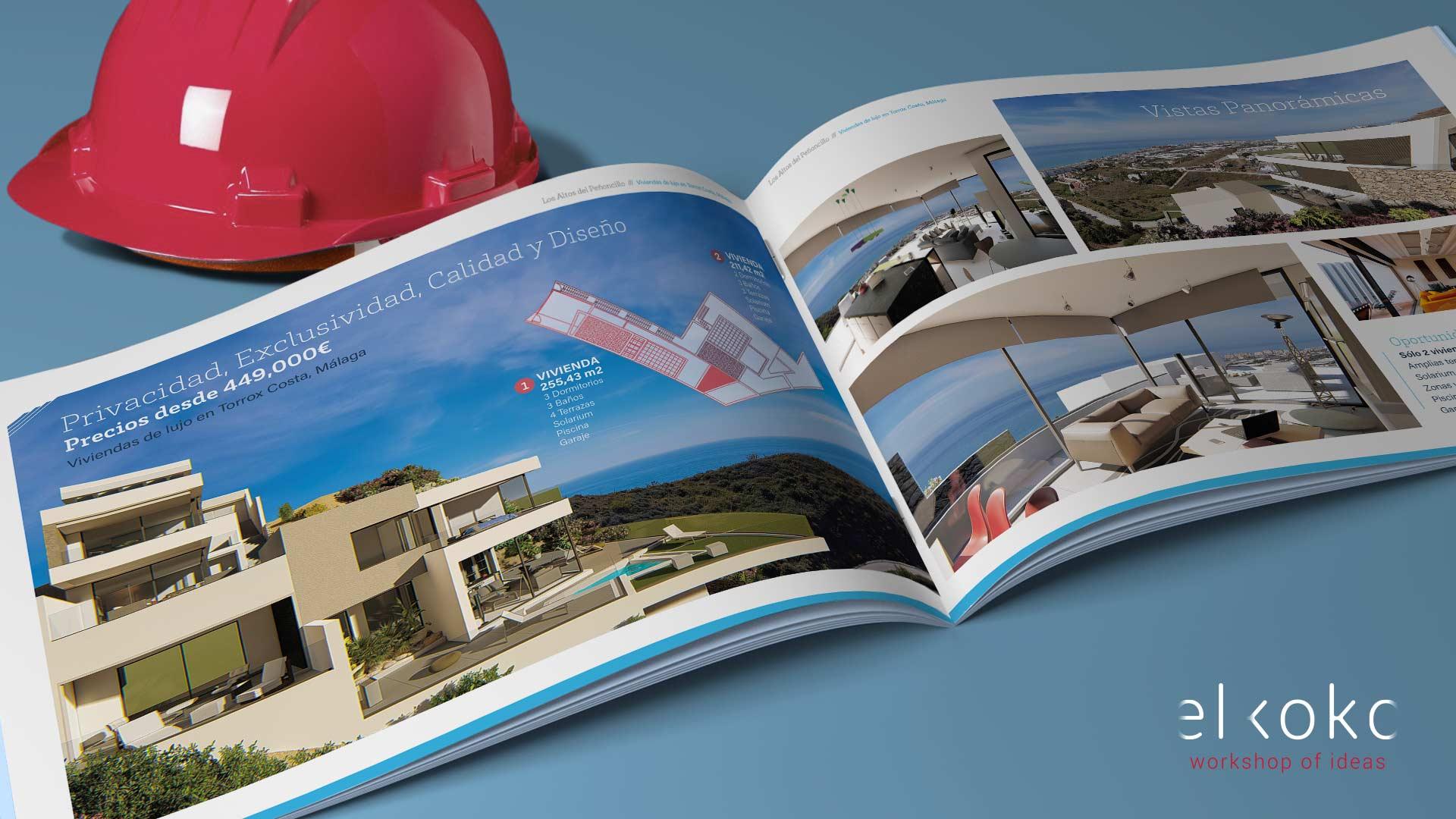 Diseño de Catálogo para Promotora Inmobiliaria en la Costa del Sol.