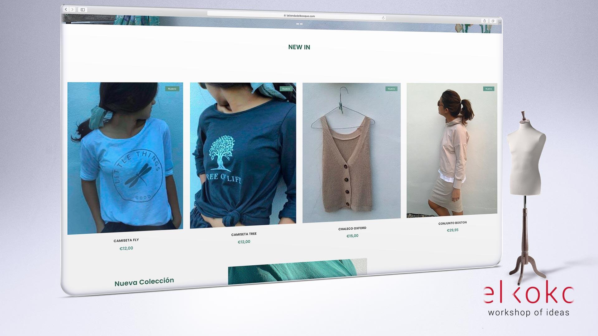 Tienda online para tienda de ropa